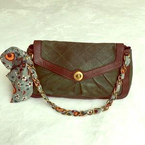 Moschino vintage leather shoulder bag